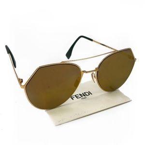 Fendi Reflective Aviator Sunglasses